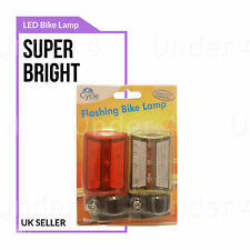 BICYCLE LED TAIL Front Rear Light FLASH MODE Mountain Bike Waterproof Bright UK