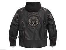 HARLEY-DAVIDSON GENUINE LEATHER REFLECTIVE 3-IN-1 JACKET MENS TALL XL, NEW W/TAG