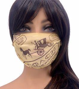 Fashion Designer Mask Name Brand Mask Coach Face Mask