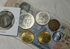 Vintage Old Korea Coin Lot 8 1 Won 5 Won 50 Won 100 Won 500 Won