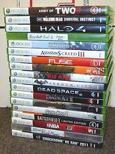 18 XBOX 360 Games Dead Space Halo Dead Island Dragon Age Borderlands A1