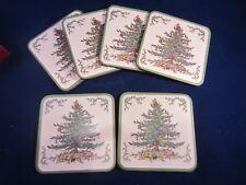 Spode (Christmas Tree) Coasters Set of Six NIB
