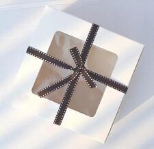 30 x  White Gloss Muffin Cupcake box  With 4 hole Insert  * 16cm x 16cm x 7.5cm