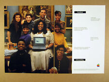 1992 Apple Macintosh PowerBook Computer teacher & students photo print Ad
