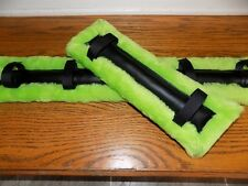 horse drawn buggy,cart,harness Mini Horse /Pony Pretty Green Fur Harness Pads!!