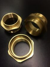 40mm MALE X 32mm FEMALE SOLID BRASS CONDUIT REDUCING BUSH QTY (1)