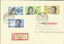 Germany DDR 1980 world famous people cover posted Langerbernsdorf VF