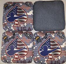 New listing Reynolds Cornhole Bags ACL Patriot Blackjack Spades USA Digital