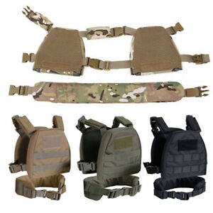 Tactical Molle Plate Carrier Combat Vest Chest Rig With Belt For Children Kids