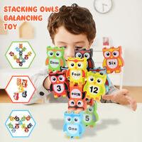 Wooden Balance Blocks Kids Early Educational Toys Animal Stacking Game Gift