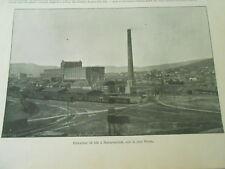 Elévateur de Blé à Novorossiisk sur la mer noire 1899 Image Print