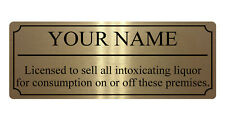 127 Personalised Name Licensed Liquor Metal Aluminium Sign Plaque Door Wall Pub