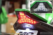 14-16 Kawasaki Z1000 16-17 ZX10R Integrated Turn Signals LED Tail Light CLEAR