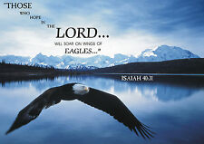 SOAR LIKE AN EAGLE-ISAIAH 40:31 Religeous Quote Poster 11x17 Laminated