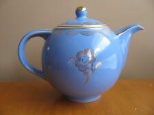 Vintage HALL China GLOBE Standard Gold Teapot MARINE Blue 6-C 0709 Reg. Spout