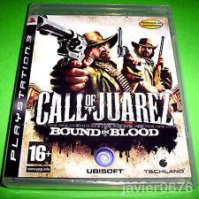 CALL OF JUAREZ BOUND IN BLOOD NUEVO Y PRECINTADO PAL ESPAÑA PLAYSTATION 3
