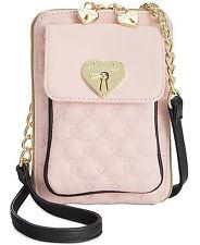 Betsey Johnson Swag North South Crossbody Handbag in Blush - New
