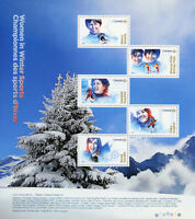Canada 2018 MNH Women in Winter Sports 5v M/S Skating Ice Hockey Skiing Stamps