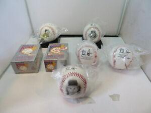 Two Nolan Ryan Texas Express Baseball Cards Box & Four Commemorative Baseballs