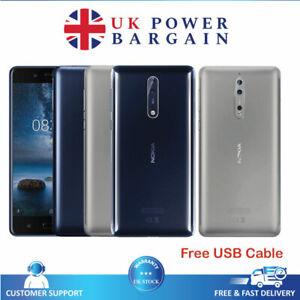 Nokia 8 64GB 4GB Ram Unlocked Dual Camera Smartphone With NFC Grey & Black