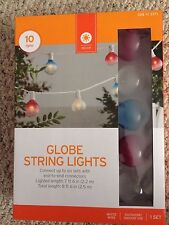 Outdoor / Indoor Use 10 Count, Clear bulb w/ Red, White, Blue Top String Lights