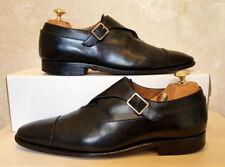 Salvatore Ferragamo Tramezza realizzati a mano MONACO NERO cinturino scarpe (Taglia: 8 D)