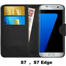 For Samsung Galaxy S7 edge Case cover magnetic Flip Wallet Genuine Leather phone