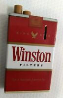Vintage Winston Filters Cigarette Pack Lighter Push Button Advertising