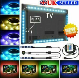 NEW!! USB TV Backlight Strip Light 5050 RGB Lighting + Remote control + Battery