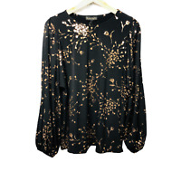 Phase Eight Jacinta Floral Top Long Sleeve Christmas 2020 Size UK 16 New RRP £55