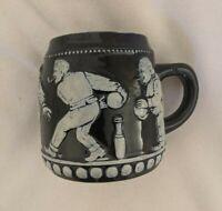 Bowling Mug Western Germany Blue Vintage Bowlers Men 0.5L
