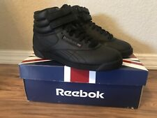 5864cd23a48ff9 Reebok FreeStyle Black (Big Kids) Boy Girl Youth High-Top Shoes Sneakers  Size