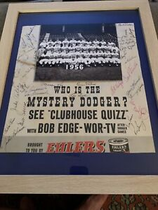 1950 Brooklyn Dodgers Team Signed framed Poster PSA Jackie Robinson Branch Rckey