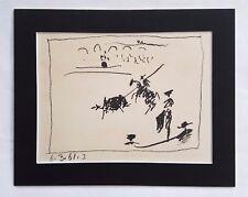 1961 Picasso Original Transfer Lithograph La Pique:  a Los Toros Avec Picasso