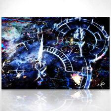 Uhrwerk Bild auf Leinwand Abstrakte Kunst Bilder Wandbilder Kunstdruck D0769