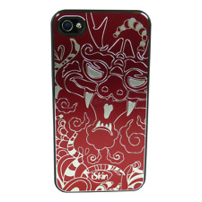 Iskin-aura-year of the Dragon-ultra slim-funda-iPhone 4 4s – rojo