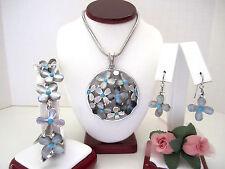 "Brighton ""EDEN'S GARDEN"" Necklace-Earring-Bracelet Set (MSR$164) NWT/Pouch"