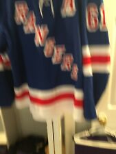 Preseason Rick Nash Game Used Rangers Jersey
