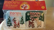 NEW Rudolph 50 Years Anniversary Soft Book Set - Infant Baby Christmas - Squeaks