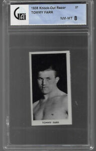 1938 KNOCK OUT RAZOR # 37 TOMMY FARR NM-MT 8 FAMOUS PRIZE FIGHTERS