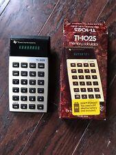 Texas Instruments Ti-1025 Calculator & box