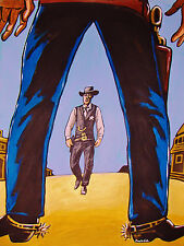 HIGH NOON PRINT gary cooper movie western cowboy boots man cave christmas gift