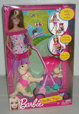 NEW BARBIE STROLLIN' PUPS TAFFY WALKS! PUP CAN BE CARRIED! PUP'S HEAD BOBBLES!