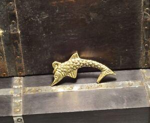Sailor Steampunk style nautical Brass Big Fish Charm pendant