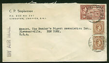 1942 WWII UNCENSOR COVER FROM JAMAICA TO N.Y. WW2 COVER