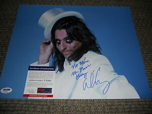 Alice Cooper Signed Autograph11x14  Photo PSA Certified #6 With Lyrics Added F1