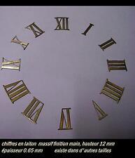 Chiffres en LAITON 11 mm PENDULES horlogerie restauré