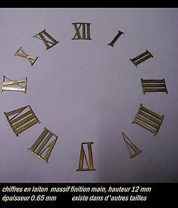 Chiffres en LAITON 10 mm CREATIONS  PENDULES horlogerie