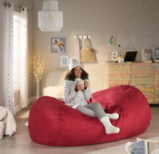 Bean Bag Chair Adult Kids Lounger Sofa Home Theater Large Red Dorm Bedroom New