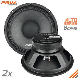"""2x PRV Audio 12W750A Midrange ALTO Car Audio 12"""" Speakers 8 Ohm 12A PRO 1500W"""